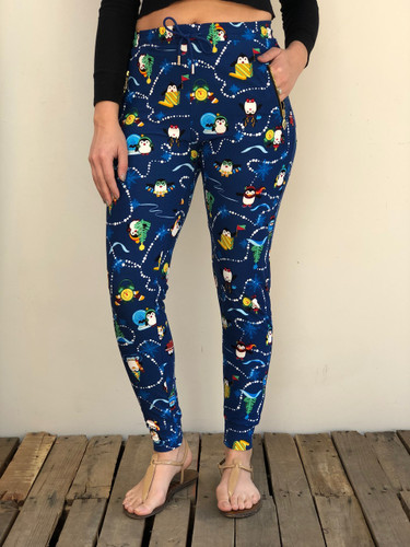 One Size Jogger- Penguin Party