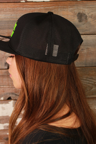 Official Legging Army Hat- Flat Bill With Mesh- Black And Green