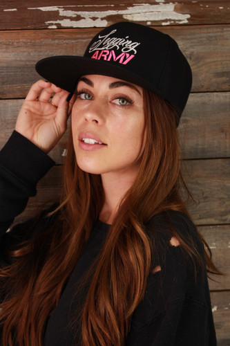 Official Legging Army Hat- Black, Pink And White