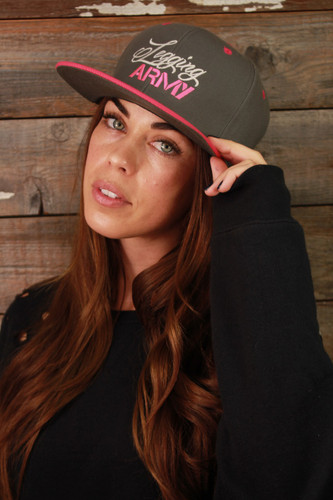 Official Legging Army Hat- Grey And Pink
