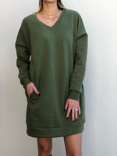 Long Sleeve Sweater- Army Green