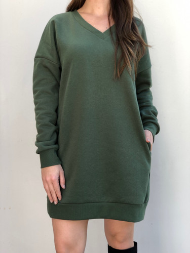 Long Sleeve Sweater- Light Olive