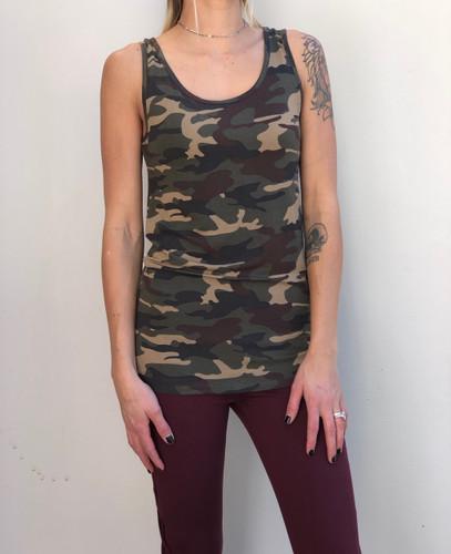 Dark Camouflage Tank Top