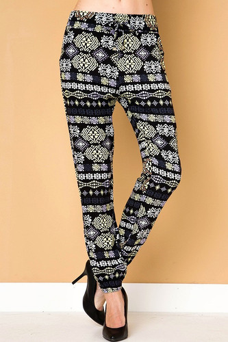Plus Size Print Jogger- Stepping Stone