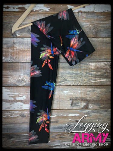"Yoga 5"" Waistband- (Plus Size): Dancing Dragons"