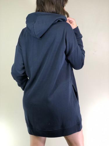 Hooded Long Sleeve Sweater- Navy