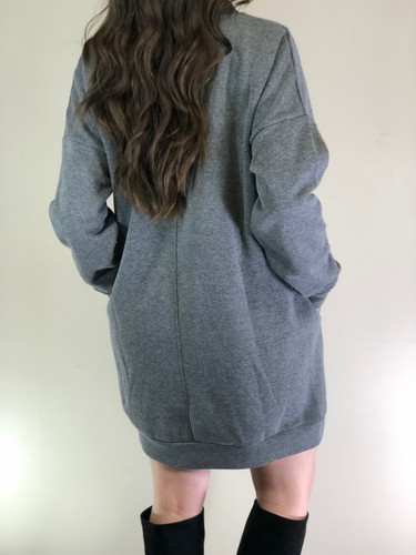 Long Sleeve Sweater- Grey
