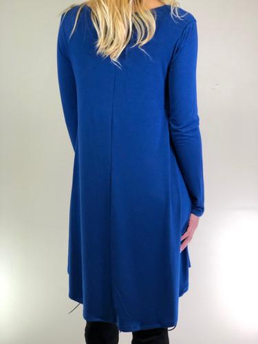 Long Sleeve Dress: Sapphire