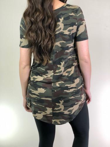 Short Sleeve- Dark Camouflage