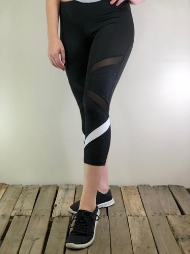 Capri Activewear- Black And White