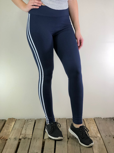 Yoga With Two Stripes- Navy