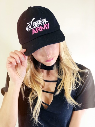 Official Legging Army Dad Hat- Pink And White