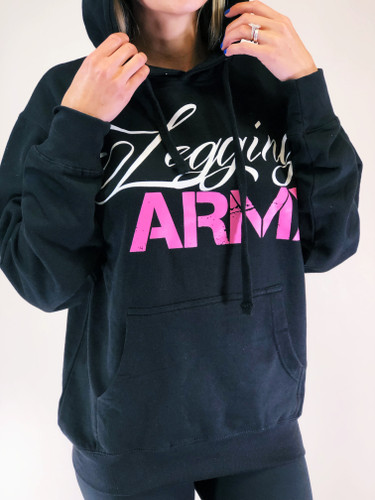 Legging Army Official  Sweatshirt- Black & Pink