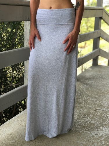 Plus Size Maxi- Heather Grey