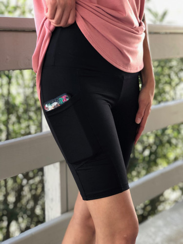Active Bike Shorts- Black