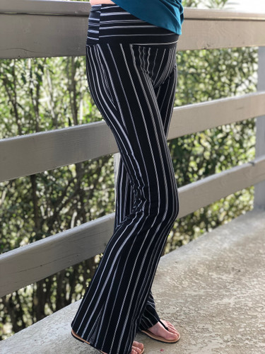 Palazzo Pants- Black And White