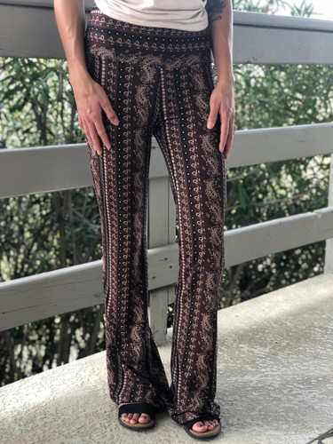 Palazzo Pants- Brown And Tan