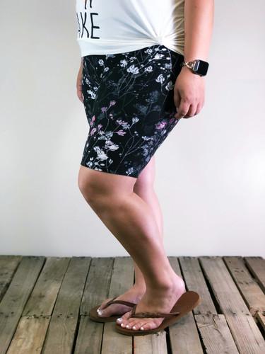 Bike Shorts- Twilight Blossoms