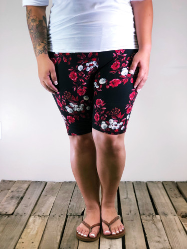 Plus Size Bike Shorts- Work Of Art