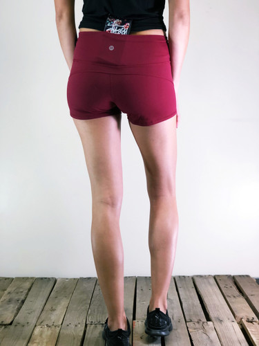 Athletic Shorts- Burgundy