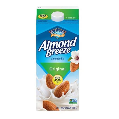 Blue Diamond Almond Breeze Original Almond Milk 1/2 Gallon