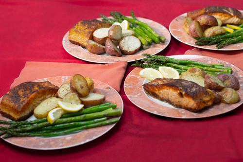 Gourmet Salmon Dinner for 4