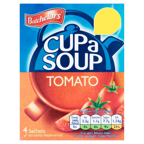 Batchelors Cup A Soup Tomato - 93g - Pack of 8 (93g x 8)