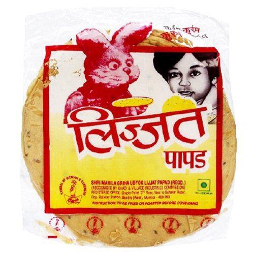 Lijjat Pappadum Green Chilli Flavour - 200g (pack of 3)