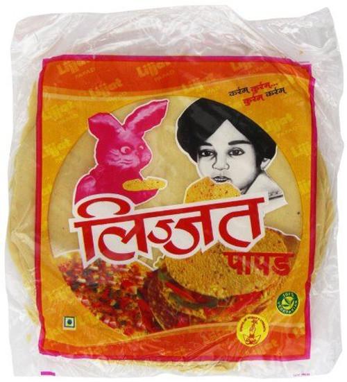 Lijjat Pappadum Plain Flavour - 200g (pack of 3)
