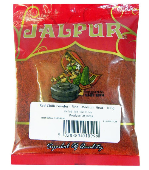 Jalpur Red Chilli Powder - Fine - Medium Heat - 100g