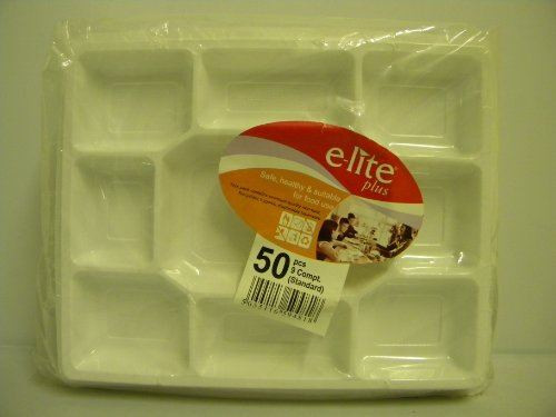 White Dispoable Extra Strong Plates - 50 Pieces