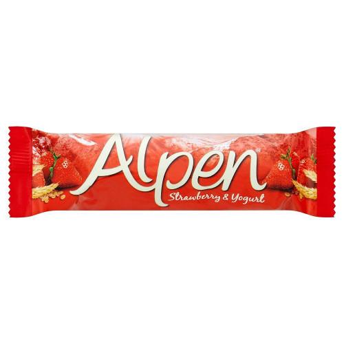Alpen Strawberry & Yogurt Cereal Bar - 29g - Pack of 6 (29g x 6 Bars)