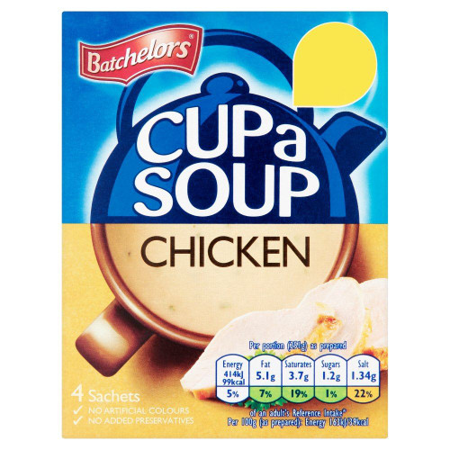 Batchelors Cup A Soup Chicken - 81g - Pack of 8 (81g x 8)
