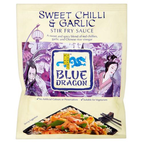 Blue Dragon Chilli & Garlic Stir Fry Sauce - 120g - Pack of 4 (120g x 4)