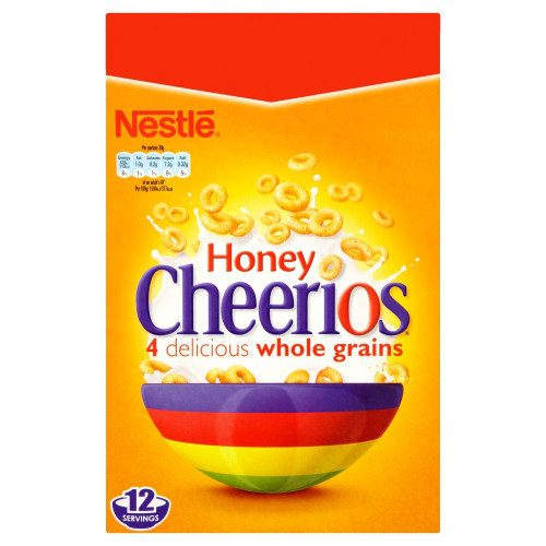 Nestle Honey Cheerios - 375g - Pack of 2 (375g x 2 Boxes)