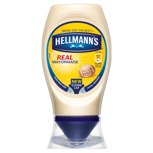 Hellmanns Real Squeezy Mayonnaise - 250ml - Pack of 2 (250ml x 2)