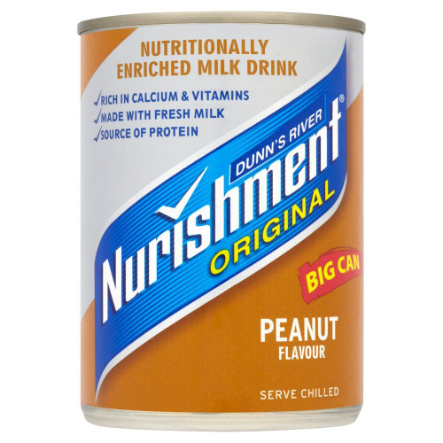 Dunn's River Nurishment Peanut Flavour - 400g - Pack of 2 (400g x 2 Cans)