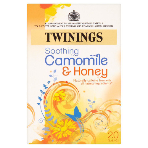 Twining Herbal Tea Camomile & Honey - Pack of 4 (20s x 4)