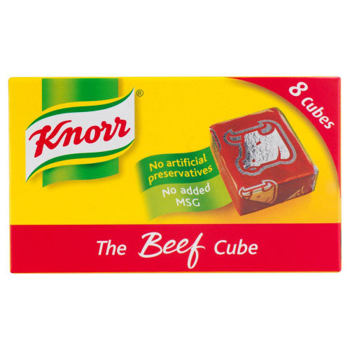 Knorr Beef Stock 8 Cubes - 80g - Pack of 4 (80g x 4)