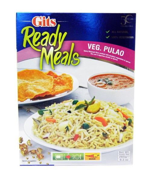 Gits - Ready Meals - Veg Pulao - 265g (pack of 2)