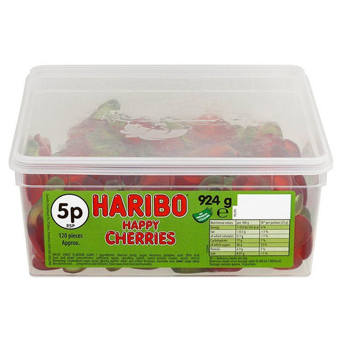 Haribo Happy Cherries - 924g - Approx 120 Pieces