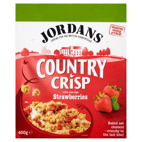 Jordans Country Crisp Strawberry - 400g - Pack of 2 (400g x 2 Boxes)