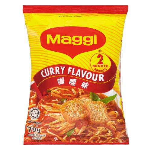Maggi 2 Minute Noodles Curry Flavour - 79g - Pack of 8 (79g x 8)