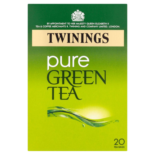 Twinings Pure Green Tea - 20s - Pack of 4 (20s x 4)