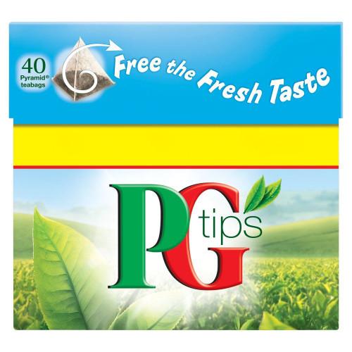 PG Tips Tea Bags - 40's Pack of 2 (40's x 2)