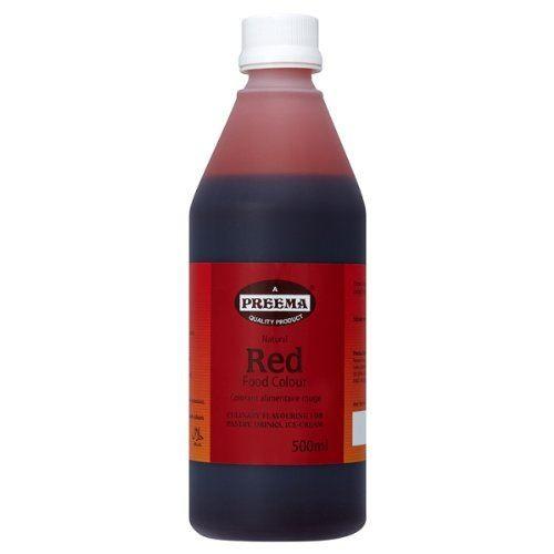 Preema Red Food Colour -1 x 500ml