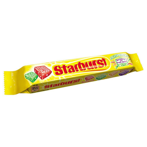Starburst Original Fruity Chews - 45g - Pack of 6 (45g x 6)