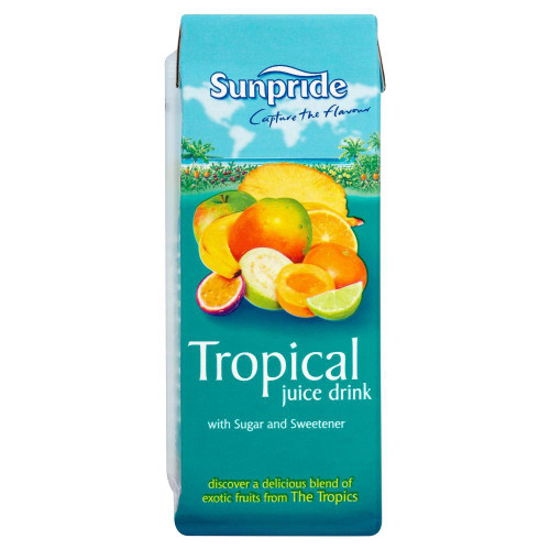 Sunpride Tropical Juice Drink - 250ml - Pack of 3 (250ml x 3 Boxes)