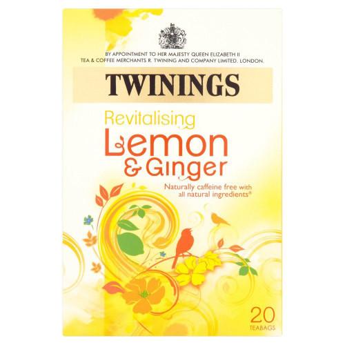 Twinings Lemon & Ginger Tea - 20s - Pack of 2 (20s x 2)