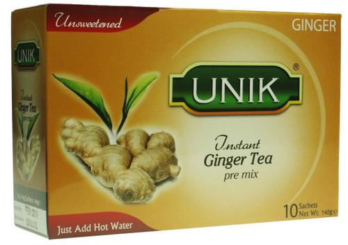 Unik Ginger Tea Unsweetened Pack of 5 -5 x 140g
